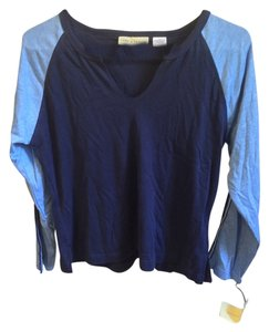 Lord & Taylor Long Sleeve T Shirt Blue