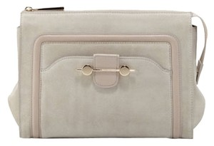 Jason Wu Suede Gold Hardware Leather Beige Clutch