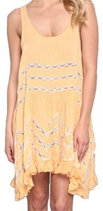 Free People short dress Tangerine Voile Lace on Tradesy