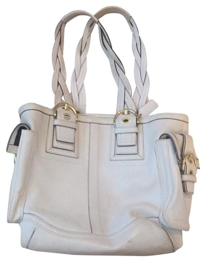 Coach Satchel in Off-white