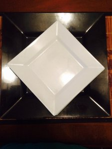 Black And White High Quality Plastic Plates