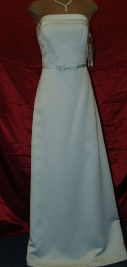 Jordan Fashions Other Satin Ice Blue Style #780 Destination Dress Size 12 (L)