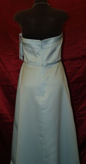 Jordan Fashions Other Satin Ice Blue Style #780 Destination Wedding Dress Size 12 (L)