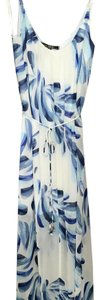 Blue & White Floral Maxi Dress by Love Stitch