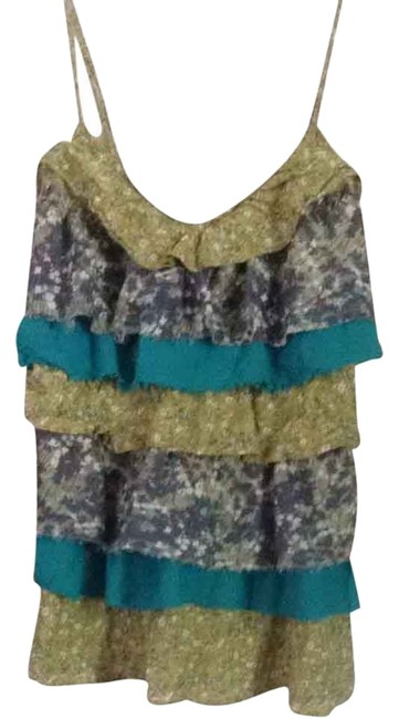 Lulumari Top Teal Green Mult