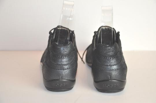 Hogan Made In Italy Sneacker Size 37 Black Silver Athletic