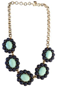 Banana Republic Navy and Mint Statement Necklace