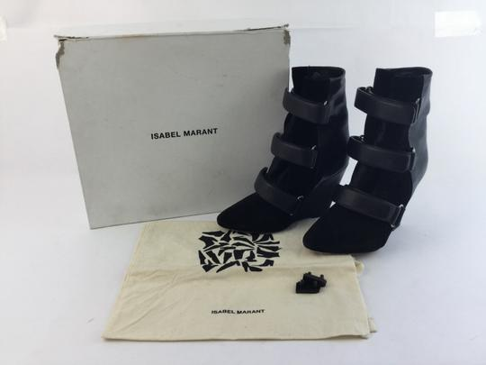 Isabel Marant Scarlet Wedge Ankle Black Boots