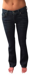 Citizens of Humanity Dark Low Waist Boot Cut Jeans-Dark Rinse