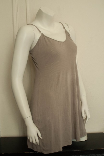 Princesse Tam Tam short dress gray/taupe Summer Spring Fall Knit Knitted Cotton Modal Polymide Hipster Boho Bohemian Clingy Stretchy Hippy Hippie Slip Eyelet on Tradesy