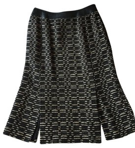 Doncaster Skirt Black & cream weave