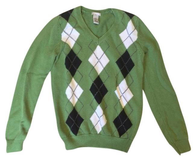Preload https://item5.tradesy.com/images/izod-green-classic-argyle-v-neck-sweaterpullover-size-2-xs-4722274-0-0.jpg?width=400&height=650