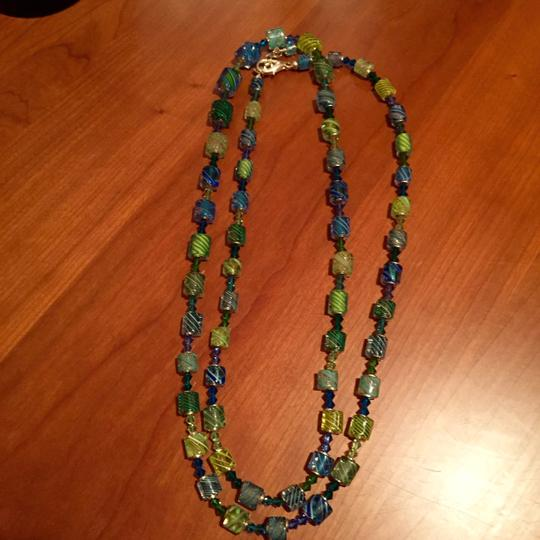 Lucy Bergamini Vitriesse Glass, necklace and bracelet set