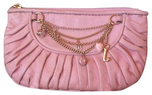 Juicy Couture JUICY COUTURE Pale Pink Leather Wristlet