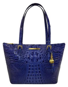 Brahmin Melbourne Med Asher Tote in Turkish Blue