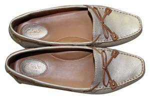 Clarks Metallic Gold Flats