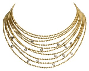 Cartier Cartier Diamond Draperie Gold Ball Necklace France