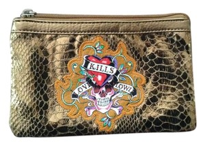 Ed Hardy Bronze Clutch