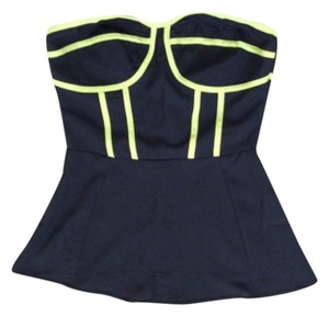 Sugarlips Top Blue/Lime Green