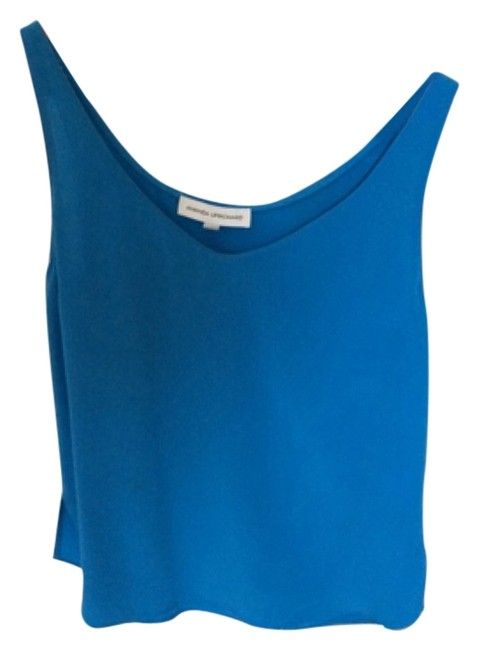 Amanda Uprichard Silk Silk Top Bright Blue