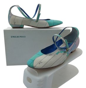 Emilio Pucci Leather Soles Made In Italy Multicolor Flats