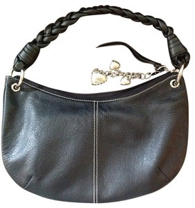 Ralph Lauren Leather Braided Handle Hobo Bag