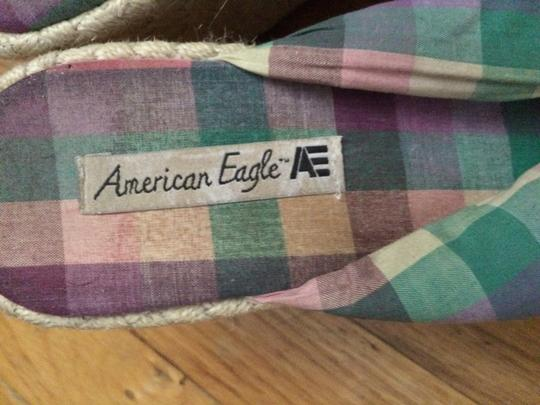 American Eagle Outfitters Summer Comfortable Woven Multicolor Wedges
