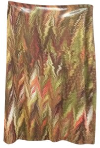 Vivienne Tam Skirt Brown, olive, orange
