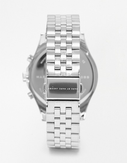Marc by Marc Jacobs Marc by Marc Jacobs Ferus Silver Tone Chronograph Watch MBM3382 38mm