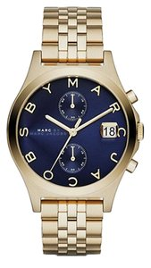 Marc by Marc Jacobs Marc by Marc Jacobs Women's Slim Chrono Gold-Tone Stainless Steel Bracelet Watch 38mm MBM3383