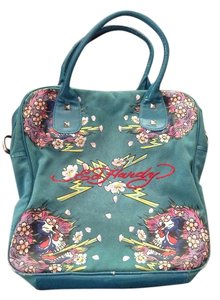 Ed Hardy Tote in Teal