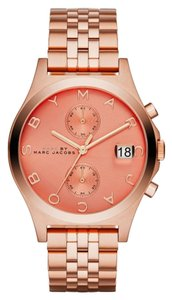 Marc by Marc Jacobs Marc by Marc Jacobs Women's Slim Chrono Rose Gold-Tone Stainless Steel Bracelet Watch 39mm MBM3384