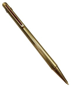 Cartier Cartier must de Cartier Trinity Ring Gold Tone & Burgundy Red Enamel Mechanical Pencil with Box