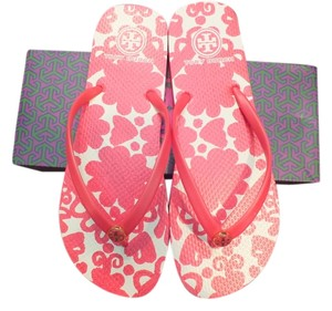 Tory Burch Lava Red-Silesa Flow Embroi P 977 Sandals
