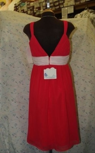 Forever Yours Other Chiffon Fuscia/Pink Stylea7202 Casual Bridesmaid/Mob Dress Size 8 (M)