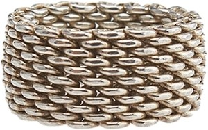 Tiffany & Co. Tiffany & Co. Sterling Silver 925 Mesh Ring, Size 10.5 (49673)