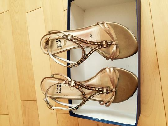 Stuart Weitzman Swarovski Crystals Light Brown Sandals