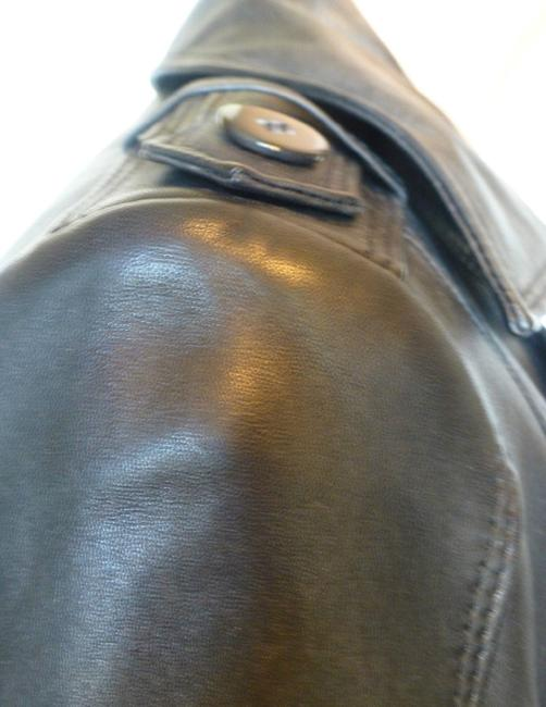 Cole Haan Trench Coat Leather Jacket