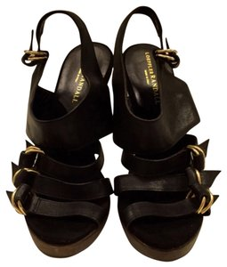 Loeffler Randall Black and tan Platforms