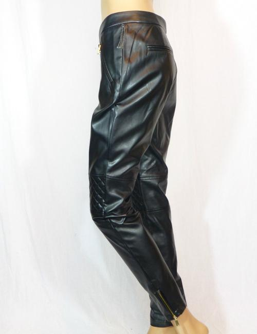 Vince Camuto Faux Leather Quilted Straight Pants Black