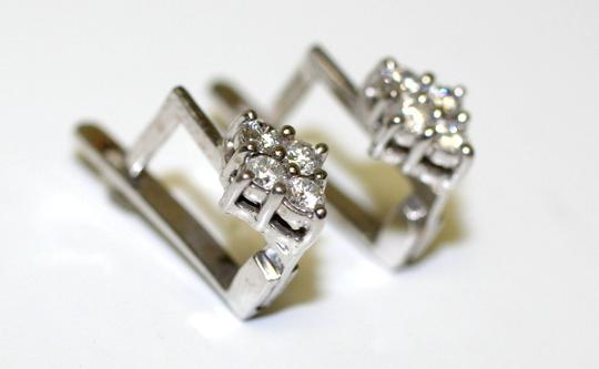 Russian Stunning Small Diamond Earrings