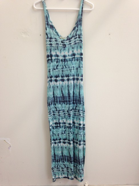Blue Maxi Dress by Urban Outfitters Summer Maxi Long Boho Tie Dye