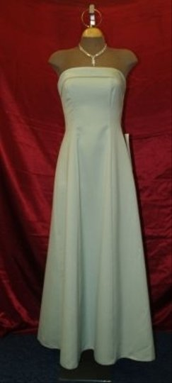 Green Long Strapless Sage Style10501 Formal Bridesmaid/Mob Dress Size 2 (XS) Image 0