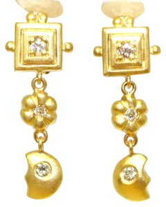 Greek Dangleling Greek Style Diamond Earrings