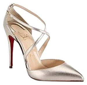 Christian Louboutin Maltaise Metallic Leather D'orsay D'orsay New Gold Pumps