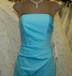 Blue Strapless Tiffany Blue Long Gown Size: 2 Style1051 Dress