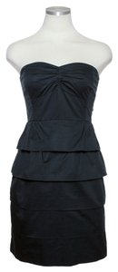J.Crew short dress Black Layered Tiered Strapless on Tradesy