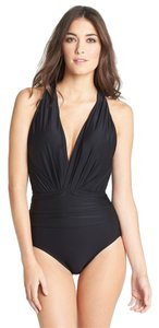 Badgley Mischka Dip Back Maillot Swimsuit Size 12
