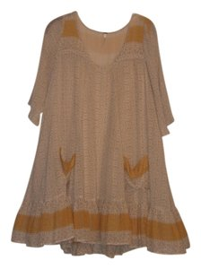 Free People short dress Yellow Motif on Tradesy