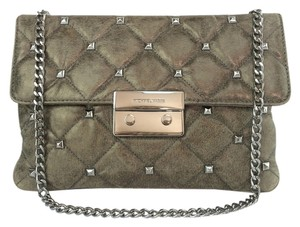 MICHAEL Michael Kors Sloan Studded Quilted Nickel Nickel/ Gray Clutch